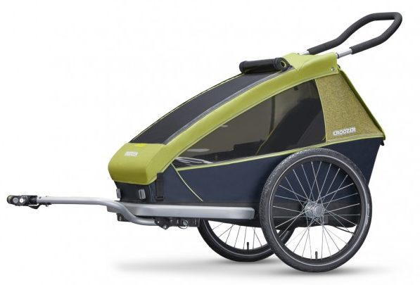 The best kids bike trailers - one of the brands to look out for is Croozer who make both single and double child trailers