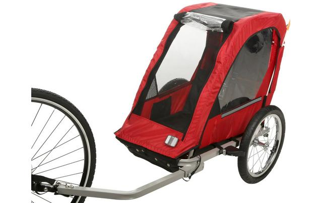 Halfords Single Seat Bike trailer - one of the cheapest kids bike trailers available in the UK