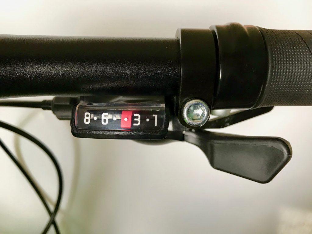 Giant ARX 20 children's bike - gear shifter visual display