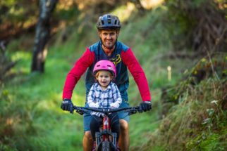 Front bike seat for mountain biking with a toddler - the Shotgun MTB seat
