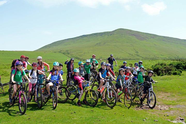 Mountain biking school trip to Hay on Wye