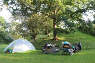 Camping on a Family cycling tour of Holland