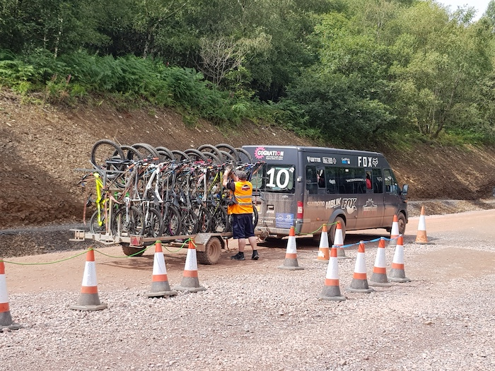 Bike Park Wales uplift minibus service