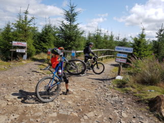 Bike Park Wales - Cycle Sprogs at the start of Terrys Belly