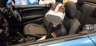 Cycling UK Dutch Reach VR simulator at the 2019 Cycle Show