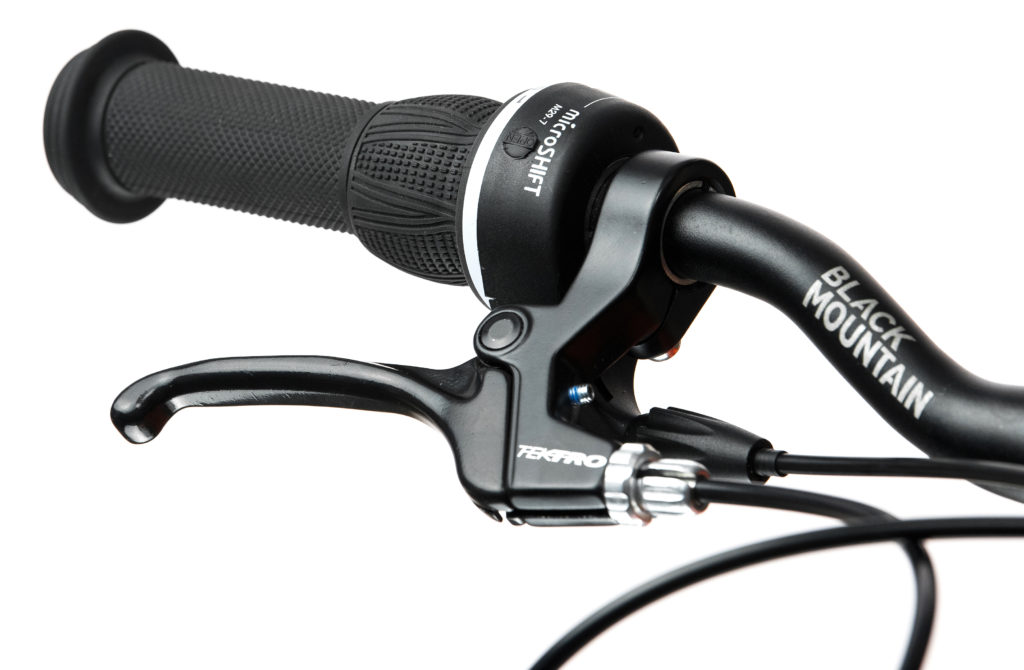 Black Mountain Bikes SRAM Gripshift gear changer on the KAPEL and HUTTO bikes