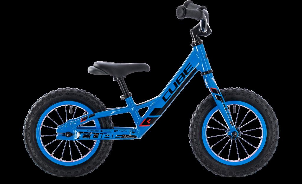 Cube Cubie 120 Walk balance bike in Action Team Blue