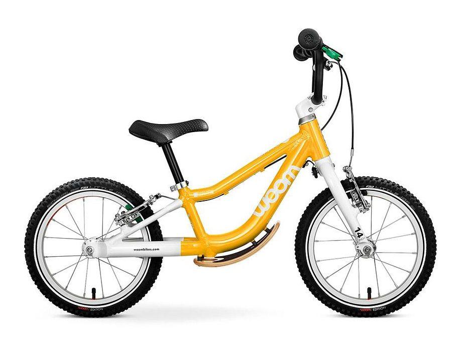 "Woom 1 Plus balance bike with 14"" wheels for taller children"
