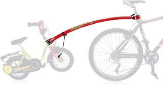 TrailGator bike tow bar is one of the easiest and cheapest ways to pull a child's bike behind your bike