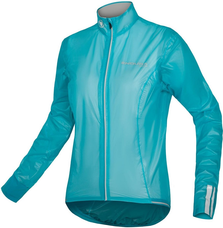Endura Ladies packable waterproof cycling jacket suitable for teenage girls and those who race bikes as you can see your race number through the material