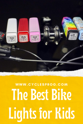 The best bike lights for kids to be seen whilst cycling during the winter - suitable for small hands and balance bikes through to bike lights for teenagers