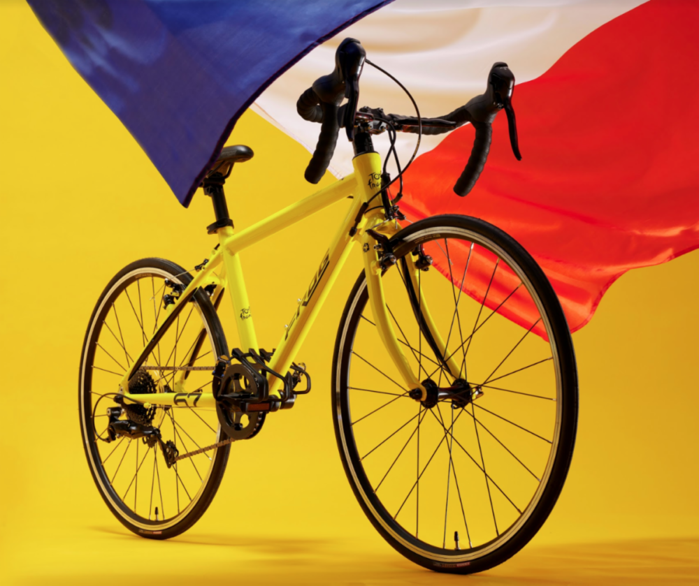 Frog Bikes yellow kids Tour de France bike