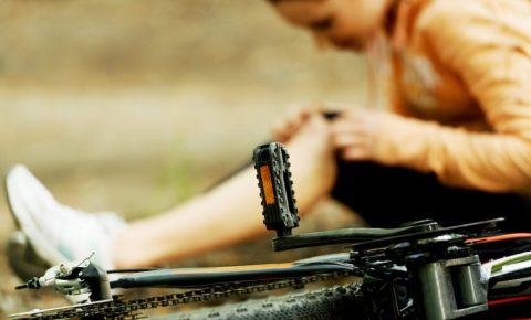 Female post bike accident
