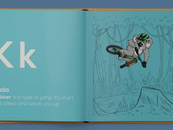 Limited edition A to Z animal alphabet mountain biking book