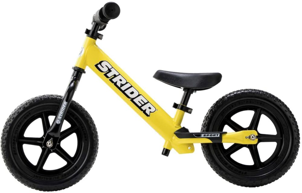 The Strider Sport is one of the most popular balance bikes for teaching a child to ride