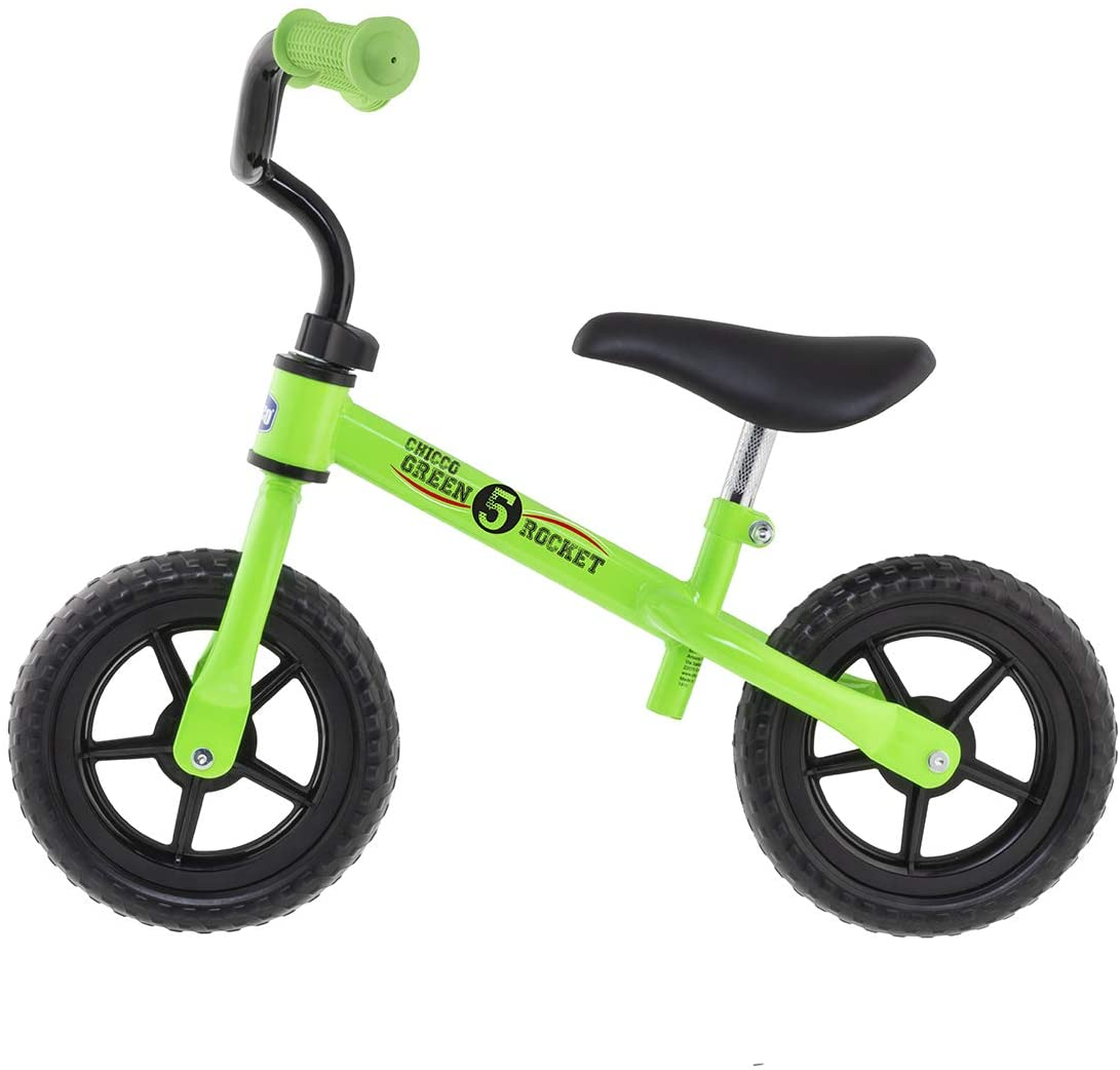 The Chicco Balance Bike (also sometimes known as the Chicco Bullet) is a cheap balance bike that can help you get your child learning how to ride a bike quickly and cheaply