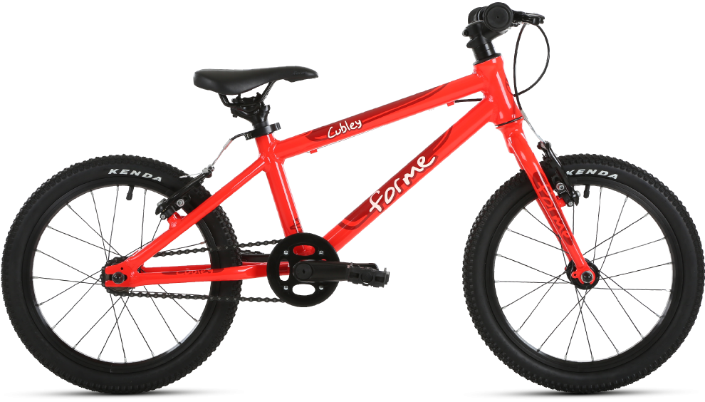 Forme Cubley 16 kids bike in red - a lightweight kids bike that also comes in pink and blue colours. A great value bike for girls and bikes of ages 4 and 5 years