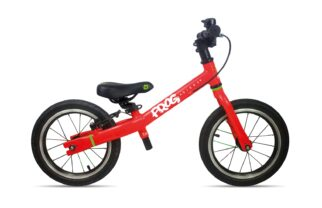 The Frog Tadpole Plus is a large balance bike for taller and older kids, aged about 4 years and over - as seen being ridden by Prince Louis