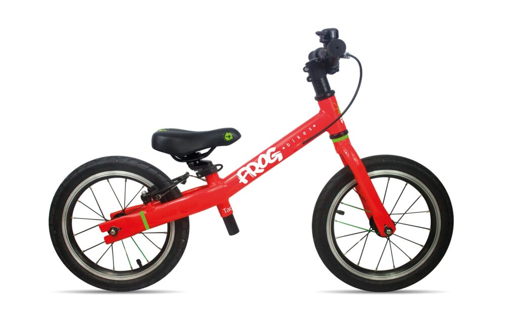 The Frog Tadpole Plus is a large balance bike for taller and older kids, aged about 4 years and over