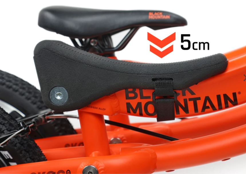 Black Mountain Notch saddle lowers the height of the saddle on the PINTO and SKOG by 5cm
