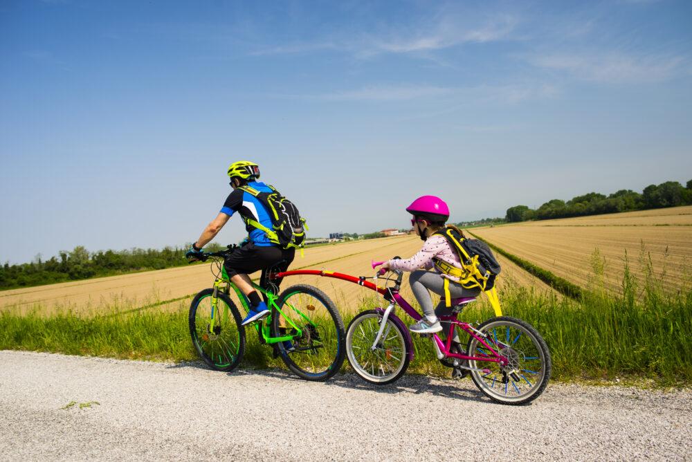 How-do-I-pull-a-childs-bike-behind-my-bike