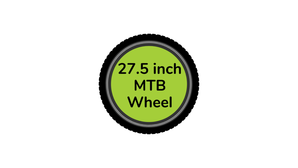 MTB bike wheel 27.5 inch with green centre disc