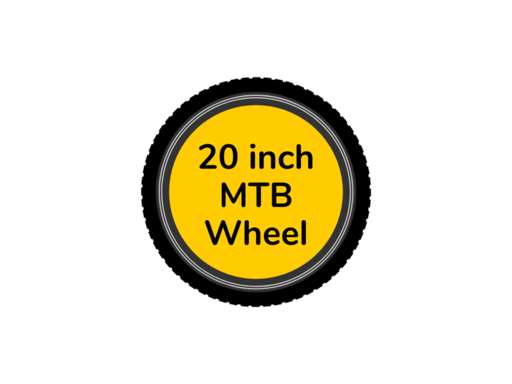 MTB bike wheel 20 inch with yellow centre disc