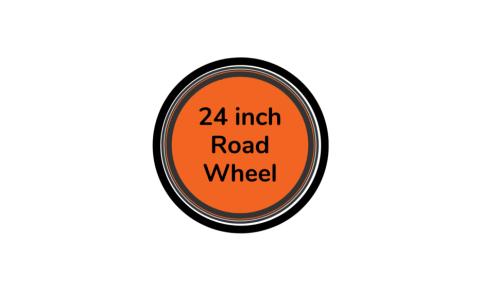 Road bike wheel 24 inch with orange centre disc