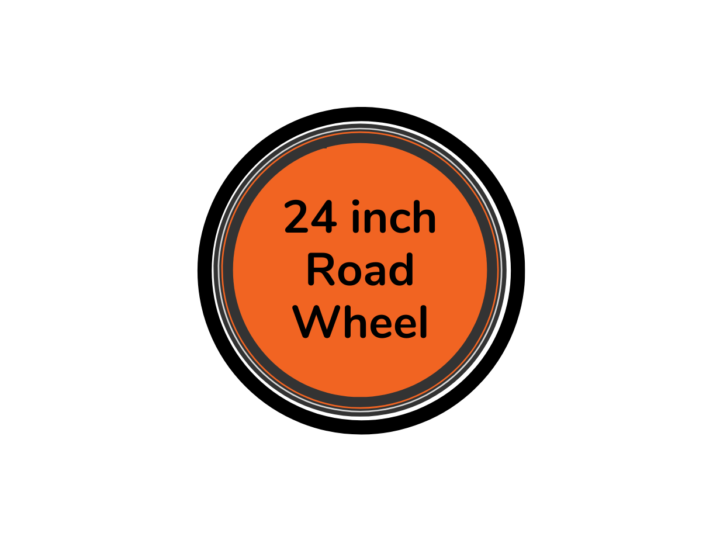 Road bike wheel 24 inch with orange centre disc