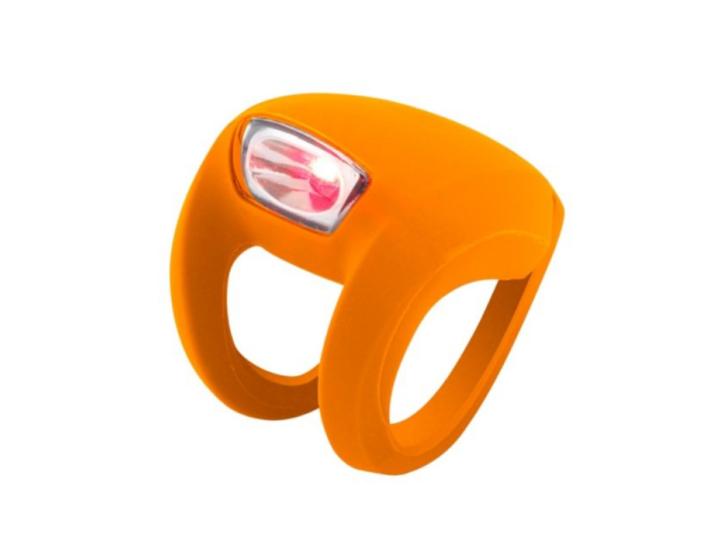 Knog Frog bike light in orange