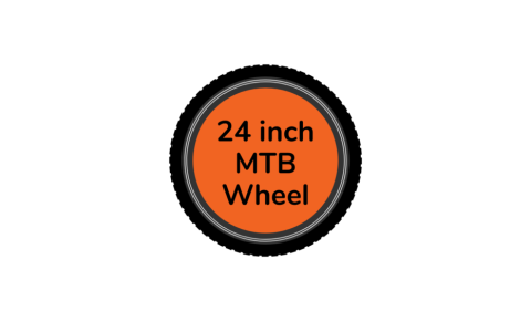 MTB bike wheel 24 inch with orange centre disc