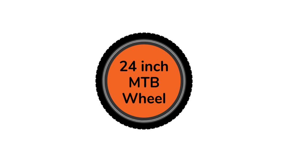 MTB bike wheel 24 inch with orange centre disc