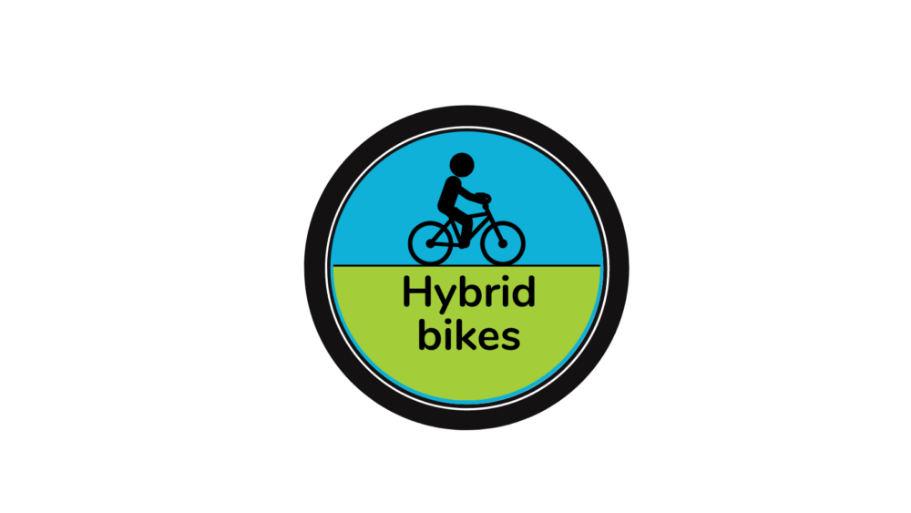 Hybrid bike logo