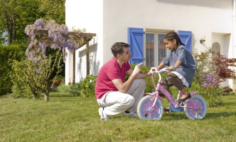 How do I know if my child's bike is too small?