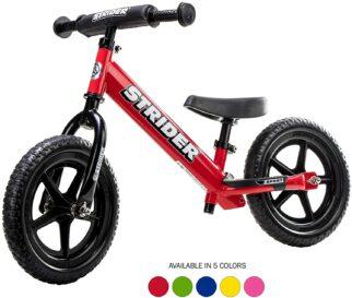 Red balance bike like Prince Louis rode to nursery school - the Strider Sport