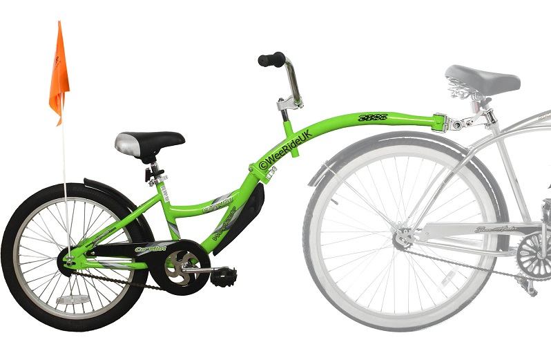 Weeride Tagalong Trailer Bike - a great choice for pulling your child along behind the parents bike