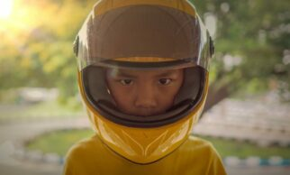 Is it safe for my child to wear a full faced motorcycle helmet when riding their bike?