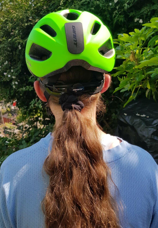 Giant teenagers helmet review ponytail