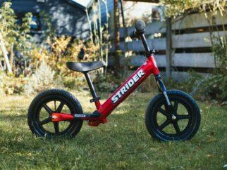 How big does a Strider balance bike go?