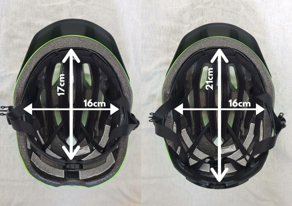What size head does the Giant ARX Compel kids helmet fit?