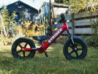 Strider balance bike with lowest seat setting